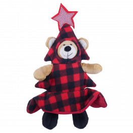 Rosewood Christmas Bauble Bear Soft Dog Toy