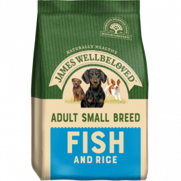 James Wellbeloved Fish & Rice Small Breed Adult Dog Food 1.5kg