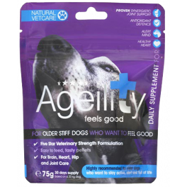 Natural Vetcare Ageility Dog Supplement 75g