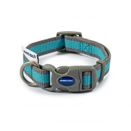 Ancol Blue & Grey Stripe Made From Dog Collar