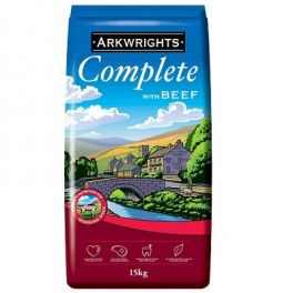 Arkwrights Complete Extra with Beef Adult Dog Food 15kg