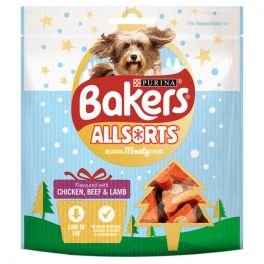 Bakers Christmas Allsorts Meaty Dog Treats 98g