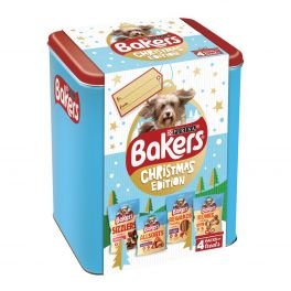 Bakers Christmas Edition Dog Treats Tin 412g