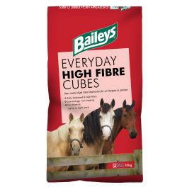 Baileys Everyday High Fibre Cubes Horse Food 20kg