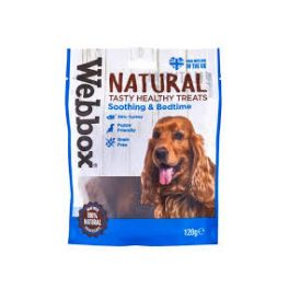 Webbox Natural Soothing and Bedtime Dog Treats 120g