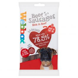Webbox Beef Sausages Dog Treats x5
