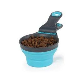Dexas Pet Collapsible Klipscoop Small Blue
