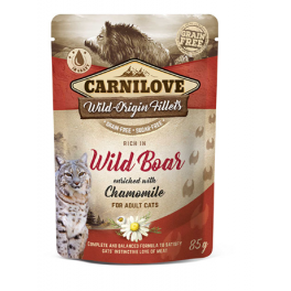 Carnilove Wild Boar with Chamomile in Gravy Wet Cat Food Pouch 85g