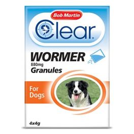 Bob Martin Clear Wormer Granules for Dogs 4 Pack