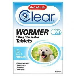 Bob Martin Clear Wormer Tablets for Small Dog & Puppies 4 Pack