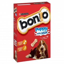 Bonio Puppy Treats with Milk
