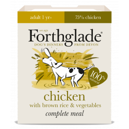 Forthglade Wet Adult Dog Food with Chicken & Brown Rice 395g