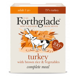 Forthglade Wet Adult Dog Food with Turkey & Brown Rice 395g