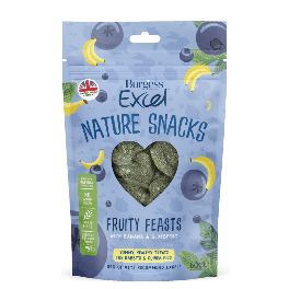 Burgess Excel Nature Snacks Fruity Feasts Small Animal Treats 60g
