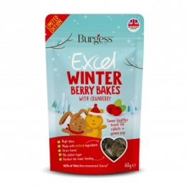 Burgess Excel Christmas Winter Berry Bakes Small Animal Treats 60g
