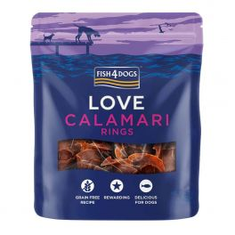 Fish4Dogs Love Calamari Rings Dog Treats 75g