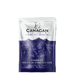 Canagan Chicken for Seniors/Sterilised Wet Cat Food Pouches x8