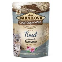 Carnilove Trout with Echinacea in Gravy Wet Cat Food Pouch 85g