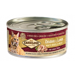 Carnilove Chicken & Lamb Wet Cat Food 100g