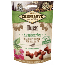 Carnilove Duck & Raspberries Crunchy Grain Free Cat Treats 50g