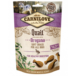 Carnilove Quail and Oregano Soft Dog Treats 200g