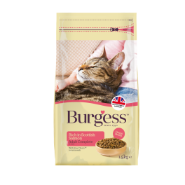 Burgess Adult Cat Food Rich in Scottish Salmon