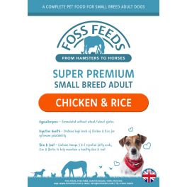 Foss Feeds Sample - Super Premium Small Bite Chicken with Rice Adult Dog Food 100g