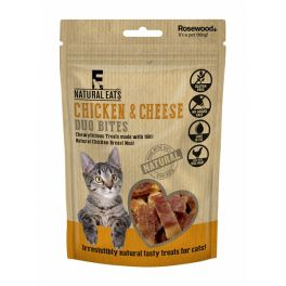Rosewood Natural Eats Chicken and Cheese Duo Bites Cat Treats 50g