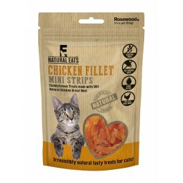 Rosewood Natural Eats Chicken Fillet Mini Strips Cat Treats 50g