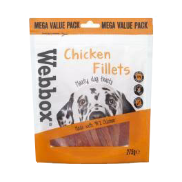 Webbox Chicken Fillets Dog Treats 275g