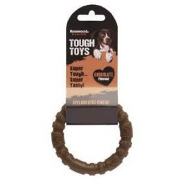 Rosewood Tough Toys Chocolate Nylon Ring Dog Chew Toy Large