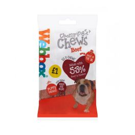 Webbox 20 Chomping Chews Dog Treats with Beef 200g