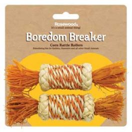 Rosewood Boredom Breaker Corn Rollers Small Animal Toy