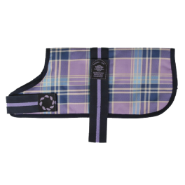 Outhwaite Lilac Check Waterproof Padded Dog Coat