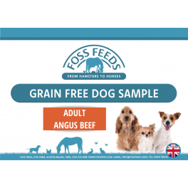 Foss Feeds Sample - Grain Free Beef Adult Dog Food 100g