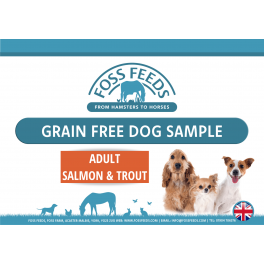 Foss Feeds Sample - Grain Free Salmon Adult Dog Food 100g