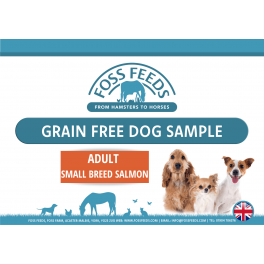 Foss Feeds Sample - Grain Free Small Breed Salmon Adult Dog Food 100g