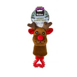 Webbox Festive Puppy Rudolph Rattle Dog Toy