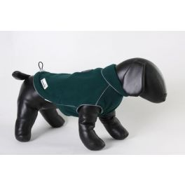 Doodlebone Green Fleecy Medium Dog Coat