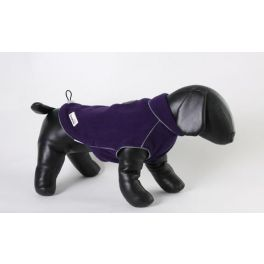 Doodlebone Purple Fleecy Dog Coat
