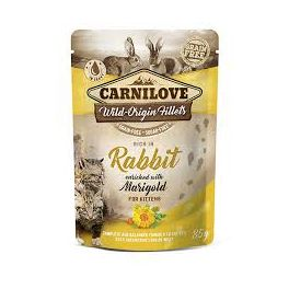 Carnilove Rabbit with Marigold in Gravy Wet Kitten Pouch 85g
