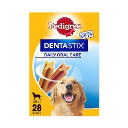 Pedigree Dentastix Dog Treats 28 Sticks for Large Dogs (25kg+)