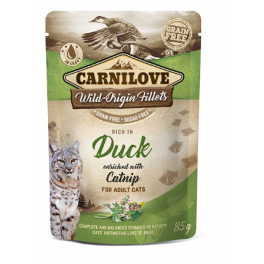 Carnilove Duck with Catnip in Gravy Wet Cat Food Pouch 85g