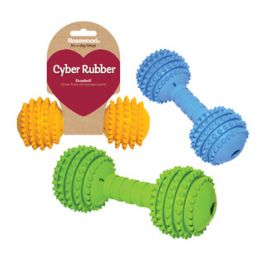 Rosewood Cyber Rubber Medium Dumbbell Dog Toy