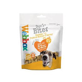 Webbox Duo Bites with Chicken & Peanut Butter Dog Treats 100g