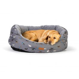 FatFace Marching Dogs Deluxe Slumber Dog Bed (4 Sizes Available)
