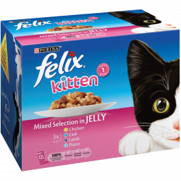 Felix Kitten Food Pouches Mixed Selection in Jelly (12 x 100g)