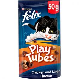 Felix Cat Treats Play Tubes Chicken and Liver 50g