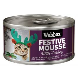Webbox Christmas Festive Turkey Mousse Cat Food 85g