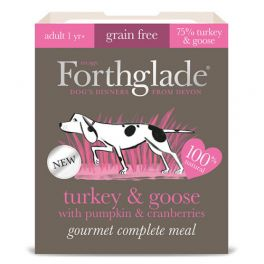 Forthglade Turkey & Goose With Pumpkin & Cranberries Grain Free Dog Food Tray 395g